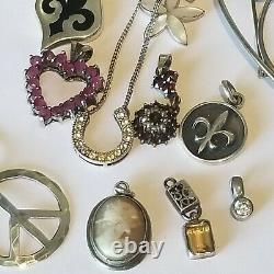 Vintage 2 Earrings 4 925 Flower Brooch 11 925 Sterling Silver Necklaces lot