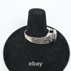 Vintage 925 Sterling Silver Garnet & Marcasite Bracelet Earrings Necklace & Ring