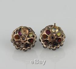 Vintage 9k Gold & Sterling Thai Princess Noppakao Earrings