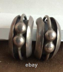 Vintage Alfredo Villasana Taxco Mexico Sterling Silver 925 Modernist Earrings