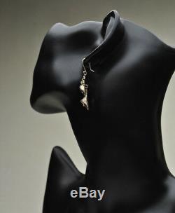 Vintage / Antique Sterling Art Nouveau Cala Lily Drop Earrings