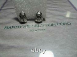 Vintage Barry Kieselstein Cord Turtle (Tortoise) Sterling Silver Earrings