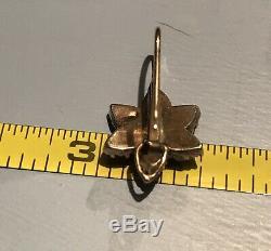 Vintage Bohemian Garnet Sterling Silver Hook Back Earrings Safety Clasp SALE $$