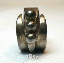 Vintage DAVID ANDERSEN Norwegian Sterling 925 Silver Modernist Ring & Earrings