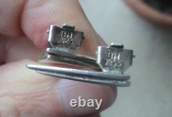 Vintage Danish Sterling Silver Modernist Earrings Bernhard Hertz of Denmark