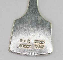 Vintage David Andersen Norway Modernist Sterling Silver Thor's Hammer Earrings