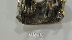 Vintage David Yurman 14K & Sterling Cable Classics Tapered Stud Earrings