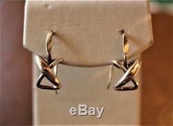 Vintage Ed Levin Sterling Secret Heart Mystery Earrings, Signed