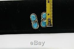 Vintage Effie C Zuni Matching Bracelet, Earrings And Ring, Sleeping Beauty, Signed