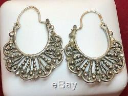 Vintage Estate Sterling Silver Jewelry Lot Gemstones Earrings Israel Ring Kabana