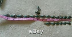 Vintage F. Pichardo Taxco Sterling chocker necklace, bracelet and earrings Jade