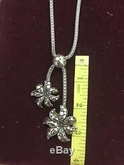 Vintage JOHN HARDY Sterling Silver & 18K Gold Pendant Necklace And Earrings
