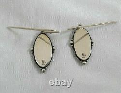 Vintage James Avery Sterling Silver Cross Earrings Oval Medallion