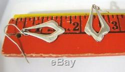 Vintage James Avery Sterling Silver Earrings Drop Dangle Long French Hook 1 1/2