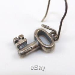 Vintage James Avery Sterling Silver Key Dangle Earrings LFE5