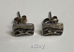 Vintage Jes Maharry Sundance Catalog Sterling Horse Stud Earrings