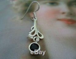 Vintage Jewellery Sterling Silver Celtic Earrings Antique Deco Jewelry Ear Rings