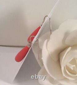 Vintage Jewellery Sterling Silver Coral Earrings Antique Deco Jewelry Ear Rings