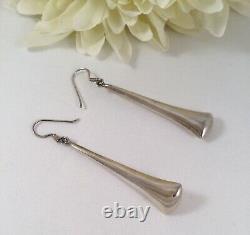 Vintage Jewellery Sterling Silver Earrings Antique Art Deco Jewelry Ear Rings
