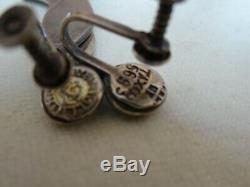 Vintage Margot De Taxco Sterling Silver & Blue Enamel Fish Earrings Dangle 1.50