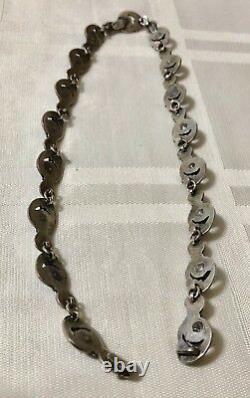 Vintage Margot De Taxco Sterling Silver Necklace & Earrings Set # 5209