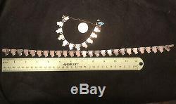 Vintage Margot de Taxco Sterling Silver & Enamel Necklace Bracelet & Earring Set