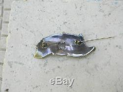 Vintage Maricela Sterling Silver Mexican Taxco Brooch/Pin with Matching Earrings