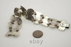 Vintage Mexican Sterling Silver Necklace Bracelet & Earrings Suite
