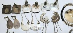Vintage Mexico Sterling Silver Jewelry Lot- Wearable- 427 Grams