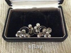 Vintage Mikimoto Screw Back Sterling Silver Earrings