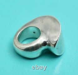Vintage Modernist Sterling Silver Ring Signed Patricia Von Musulin 28.5 g
