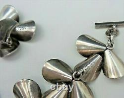 Vintage N. E. FROM Sterling Silver. 925 Floral Bracelet & Earrings Set DENMARK