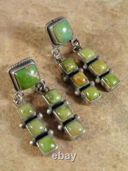 Vintage Navajo Sterling Silver & Cerrillos Turquoise Earrings