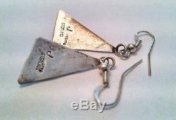 Vintage Navajo Sterling Silver Lapis Earrings