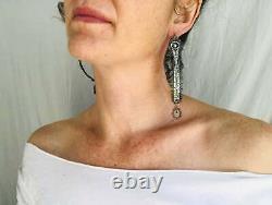 Vintage Oaxacan Filigree Earrings Pearl. Sterling Silver. Mexico. Frida Kahlo