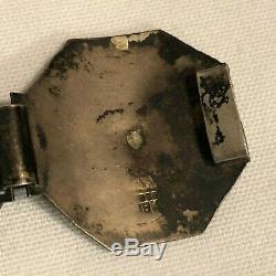 Vintage Peruvian Peru Sterling Silver 18k Gold Aztec Panel Bracelet Pendant Lot