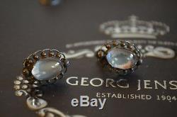 Vintage Rare GEORG JENSEN 925 Sterling Silver Ear clips no 81 Earrings Danish