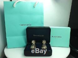 Vintage Rare Tiffany & Co. Scarab Earrings 18K Gold and Sterling Silver Two Tone