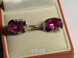 Vintage Russian Earrings Sterling Silver 875 Soviet Jewelry USSR