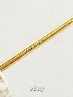 Vintage Signed TABRA Sterling Silver Opal Mosaic Dangle Earrings 14K Gold Posts
