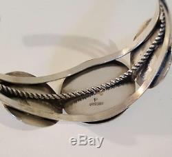 Vintage Southwestern Sterling Silver Concho Bracelet and Earrings Signed P