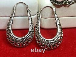 Vintage Sterling Jewelry Lot Southwestern Earrings Bracelet Pendant Gemstone