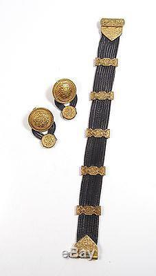 Vintage Sterling Silver Designer Anatoli Byzantine Style Bracelet & Earrings Set