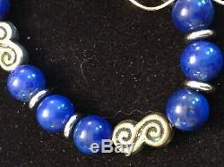 Vintage Sterling Silver Lapis Pendant Necklace Earrings & Bracelet Southwestern