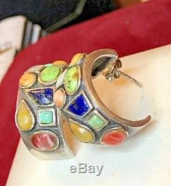 Vintage Sterling Silver Southwestern Native American Ring Earrings Bracelet