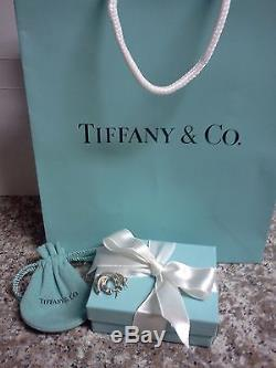 Vintage Sterling Silver Tiffany & Co. Twist Hoop Earrings