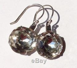 Vintage Sterling Silver Up-Cycled Paste Earrings