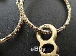 Vintage Sterling Silver Vermeil Hoop Dangle Paste Stone Baroque Pearl Earrings
