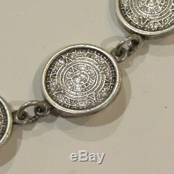 Vintage TAXCO Mexico Sterling Silver Necklace Earrings SET TP-87 925 61.2 g