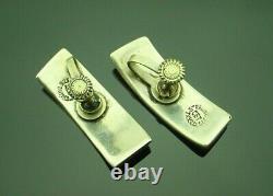 Vintage Taxco Sterling Modernist Choker Necklace Bracelet Earrings Set Mexico